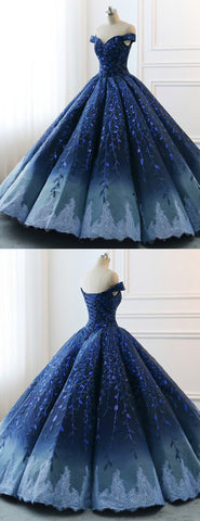 products/Navy_Lace_Applique_Off_Shoulder_Ball_Gown_Princess_Prom_Dresses_PD00137-2.jpg