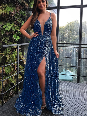 products/Navy_Sequin_Simple_Spaghetti_Strap_Silt_Prom_Dresses_PD00209-1.jpg