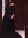 New Arrival Black Lace Off The Shoulder Ball Gown Formal Gown Dresses. PD0257