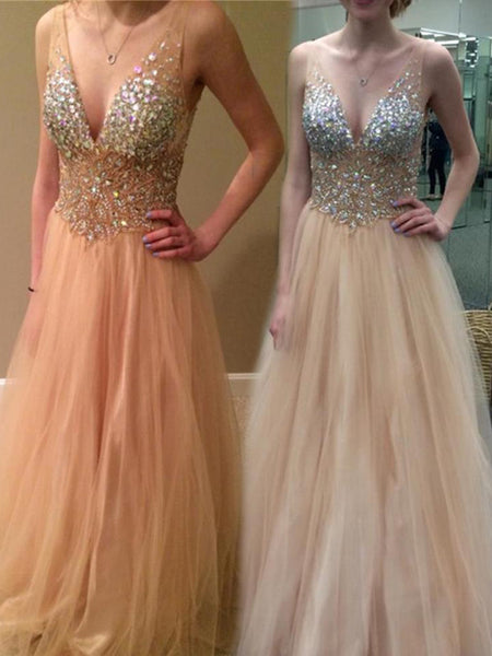 New Arrival V-Neck Sexy Sparkly Evening Cocktail Prom Dresses Online,PD0127
