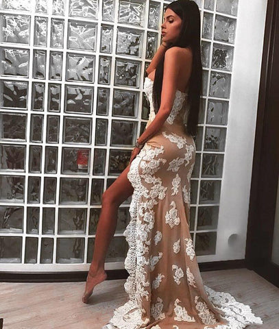 products/Nude_Sweetheart_Strapless_Ivory_Lace_Sheath_High_Low_Sexy_Elegant_Prom_Dresses_PD0137-2.jpg