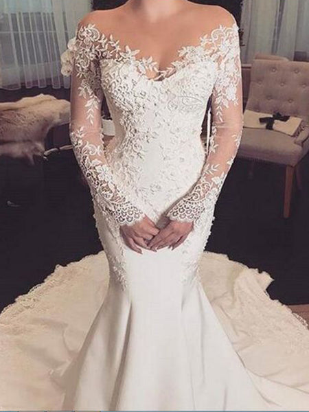 553f5fb4bab FEATURED PRODUCTS. Your product's name. $200.00. Off Shoulder Lace Long  Sleeve Mermaid Wedding Dresses ...