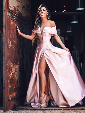 products/Off_Shoulder_Pink_Satin_Slit_Charming_Fashion_Prom_Dresses_PD00245-1.jpg