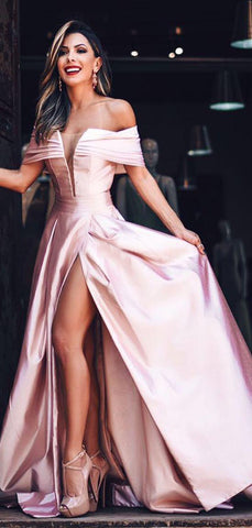 products/Off_Shoulder_Pink_Satin_Slit_Charming_Fashion_Prom_Dresses_PD00245-2.jpg