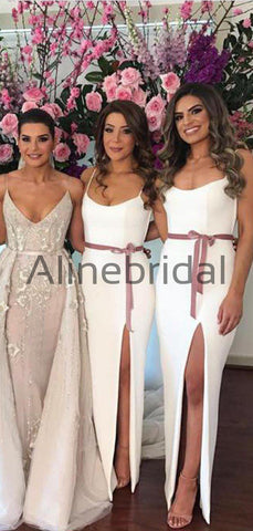 products/Off_White_Spaghetti_Strap_Slit_Sheath_Rose_Ribbon_Bridesmaid_Dresses_AB4058-2.jpg