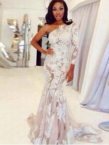 products/One_Shoulder_Long_Sleeve_Nude_Tulle_Ivory_Lace_Mermaid_Wedding_Dresses_AB1556-1.jpg
