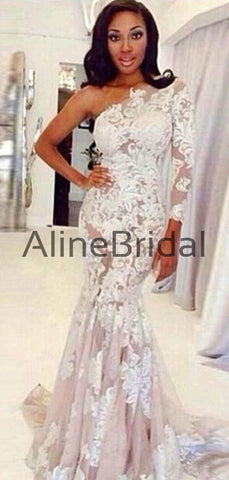 products/One_Shoulder_Long_Sleeve_Nude_Tulle_Ivory_Lace_Mermaid_Wedding_Dresses_AB1556-2.jpg
