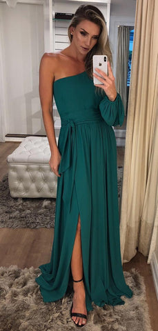 products/One_Shoulder_Long_Sleeve_Teal_Chiffon_Prom_Dresses_PD00343-2.jpg