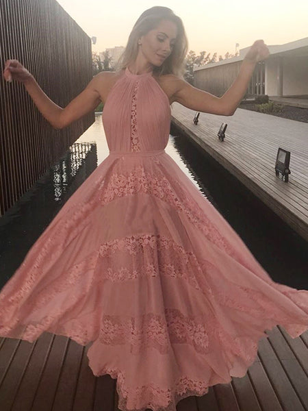 20e27710bf FEATURED PRODUCTS. Your product s name.  200.00. Peach Lace Chiffon Halter A -line Elegant Prom ...