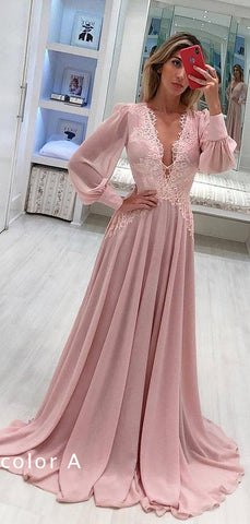 products/Pink_Chiffon_Long_Sleeve_Applique_A-line_Elegant_Prom_Dresses_PD00204-2.jpg