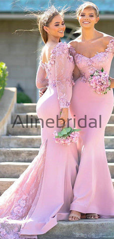 products/Pink_Lace_Aplique_Jersey_Mermaid_Long_Sleeve_Charming_Bridesmaid_Dresses_AB4094-2.jpg