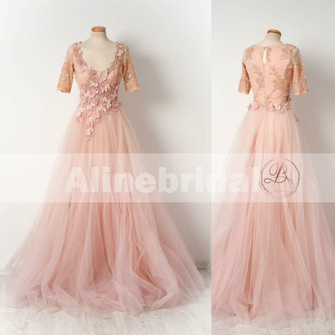 products/Pink_Lace_Handmade_Flowers_Beaded_Tulle_Half_Sleeves_Scoop_Neck_Prom_Dresses_PD00105-1.jpg