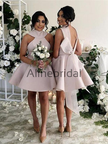 products/Pink_Satin_High_Neck_V-back_With_Bow_Knot_Short_Bridesmaid_Dresses_AB4079-1.jpg