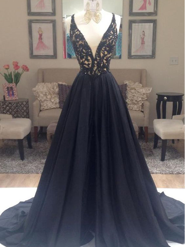 discount coupon purchase authentic moderate cost Popular Deep V-neck A-line Elegant Ball Gown Evening Party Cocktail Prom  Dresses Online,PD0198