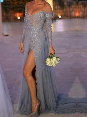 products/Popular_Gray_Off_Shoulder_Lace_Side_Slit_Sexy_Elegant_Prom_Dress._PD0021.jpg