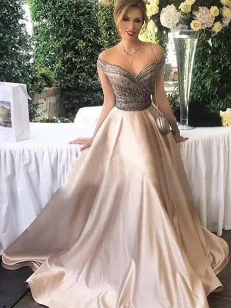 820af1c23c5 FEATURED PRODUCTS. Your product's name. $200.00. Popular Off Shoulder  Sparkly Beaded Satin Ball Gown Prom ...