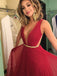 Red Backless Chiffon Sexy Cheap Evening Party prom Gown Dress,PD0025