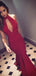 Red Jersey High Neck Halter Mermaid Backless Prom Dresses,PD00206