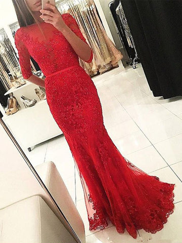 products/Red_Mermaid_Beaded_Sparkly_With_Half_Sleeve_Lace_Prom_Dresses_PD0205-1.jpg