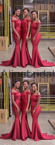 products/Red_One_Strap_Off_Shoulder_Mermaid_Sweep_Train_Long_Bridesmaid_Dresses_AB4089-2.jpg