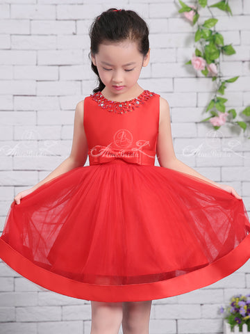4fb91f705ee products Red Satin Tulle Sparkly Neckline Cute Flower Girl Dresses FGS135-1.jpg