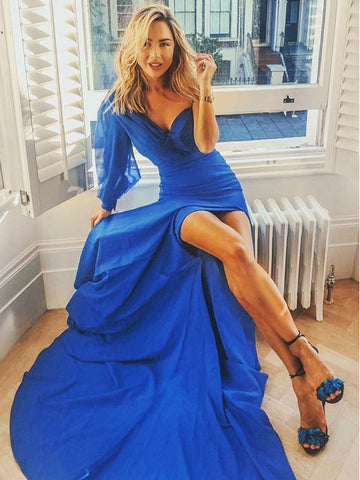 products/Royal_Blue_Unique_One_Shoulder_Long_Sleeve_With_Slit_Prom_Dresses_PD00321-1.jpg