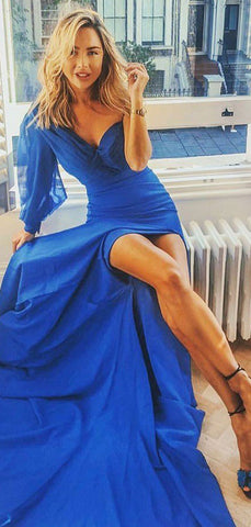 products/Royal_Blue_Unique_One_Shoulder_Long_Sleeve_With_Slit_Prom_Dresses_PD00321-2.jpg