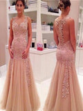 See-through Sexy Charming Prom Dresses Online,PD0134
