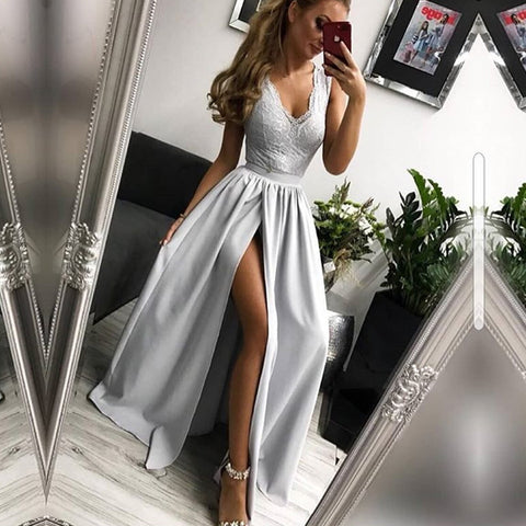 products/Simple_Elegant_Light_Grey_Lace_Sleeveless_V-neck_High_Side_Splits_Prom_Dresses_PD0183-1.jpg