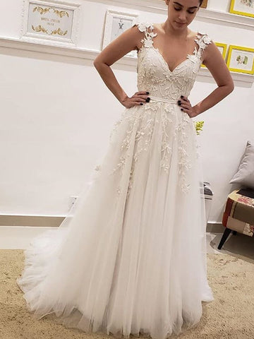 products/Simple_Tulle_Lace_Illusion_Back_A-line_Wedding_Dresses_AB1506-1.jpg