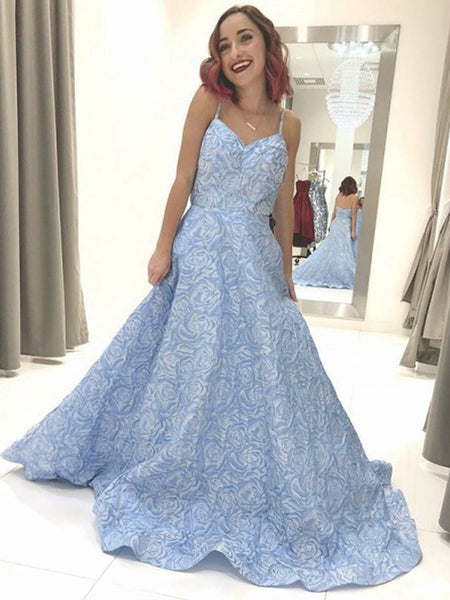 FEATURED PRODUCTS. Your product s name.  200.00. Sky Blue Unique Floral  Satin Spaghetti Strap Prom Dresses ... f5af96a80