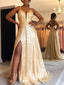 Sparkly Long Prom Dresses with Slit ,Fashion Formal Dress PD1055