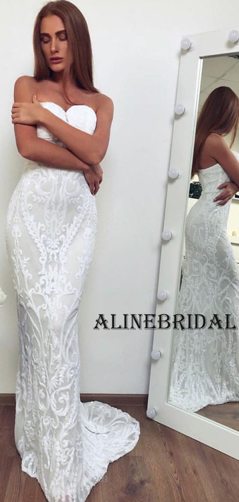Sweatheart Lace Mermaid Long Wedding Dresses WD1209