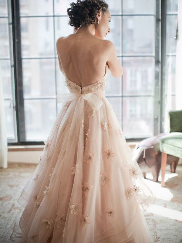 Sweetheart Appliqued Ball Gown Formal Charming Evening Prom Dresses .AB0302