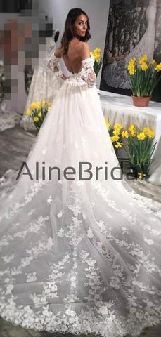 products/Sweetheart_Strapless_Half_Sleeve_Lace_Applique_Ball_Gown_With_Train_Vintage_Wedding_Dresses_AB1554-2.jpg