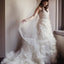 Sweetheart Strapless Ivory Organza Beaded Lace Ball Gown  Wedding Dresses, WD0131