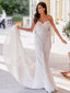 Sweetheart Strapless Lace Ivory Chiffon Mermiad Train Wedding Dresses , AB1531
