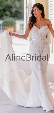 products/Sweetheart_Strapless_Lace_Ivory_Chiffon_Mermiad_Train_Wedding_Dresses_AB1531-2.jpg