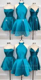 Teal Soft Satin Mismatched Homecoming Dresses ,HD0016