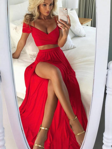 products/Two_Piece_Bright_Red_Off_Shoulder_Spaghetti_Straps_High_Side_Split_Prom_Dresses_PD0126.jpg