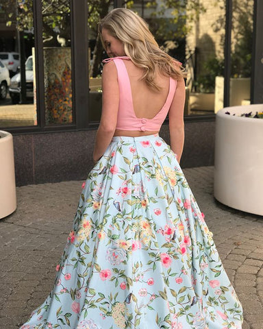 products/Two_Piece_Peach_Floral_Prints_Pocket_Prom_Dresses_PD00125-A.jpg