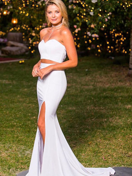 54c5f4b4a66 FEATURED PRODUCTS. Your product s name.  200.00. Two Piece Strapless  Mermaid White Cheap Prom Dresses ...