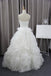 Unique Bubble Organza Sweetheart Strapless Ball Gown Wedding Party Dresses, WD0013