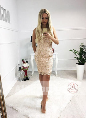 Unique Sparkly Lace Tight Sheath Charming Homecoming Dresses,HD0003