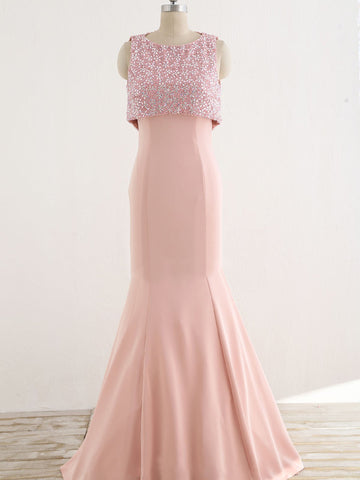 products/Unique_Two_Piece_Pink_Beading_Top_See_Through_Tull_Back_Mermaid_Prom_Dresses_PD00065-1.jpg