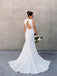 Vintage Fully Lace Sleeveless Open Back Mermaid Wedding Dresses, AB1163