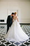 Vintage Ivory Satin Tulle Sweetheart Strapless Ball Gown Wedding Dresses, AB1167