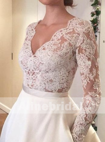 products/Vintage_Lace_Top_Ivory_Satin_Long_Sleeves_Wedding_Dresses_With_Pockets_AB1151-a.jpg