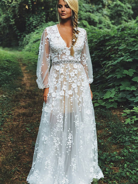f44e13e69f0c FEATURED PRODUCTS. Your product's name. $200.00. White Lace Illusion Long  Sleeve Boho Wedding Dresses ...