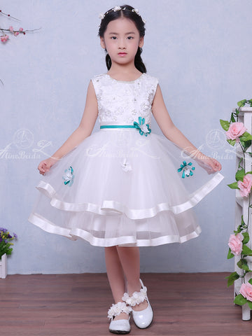 551b7207ceaf products/White_Tulle_Applique_Beading_Tiered_Teal_Belt_Flower_Girl_Dresses_FGS118-1.jpg